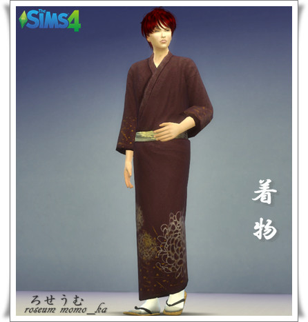 シムズ4 CC ダウンロード 和装 着物 羽織り袴 新撰組 mod 配布