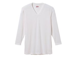 【産経ショップ】快適と温かさを両立した吸湿発熱素材ブレスサーモエブリのVネック長袖a001