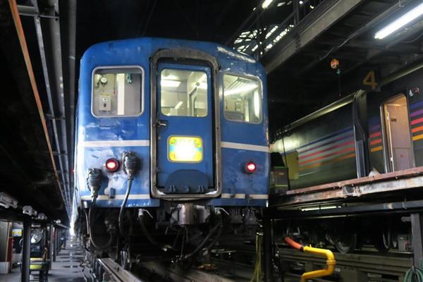 北海道新幹線開業に伴い、廃止が決まっているJRが定期運行する全国最後の急行列車「はまなす」=2月22日、札幌市手稲区の札幌運転所(杉浦美香撮影)_lif1602220027-p1