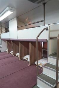 JR全国最後の急行列車「はまなす」。人気のカーペット車両=2月22日、札幌市手稲区の札幌運転所(杉浦美香撮影)_lif1602220027-p2