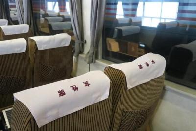 JR全国最後の急行列車「はまなす」のドリームカーの女性席=2月22日、札幌市手稲区の札幌運転所(杉浦美香撮影)-p7