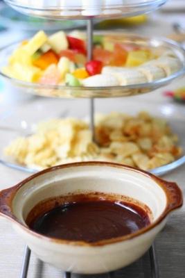 土鍋 de チョコレートフォンデュ