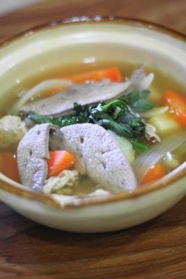 ノンオイルでヘルシーなチムシンジ(豚レバーの汁物)2