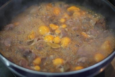 黒酢しょうが de たっぷりきんかんのオリジナル鳥もつ煮4