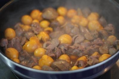 黒酢しょうが de たっぷりきんかんのオリジナル鳥もつ煮5