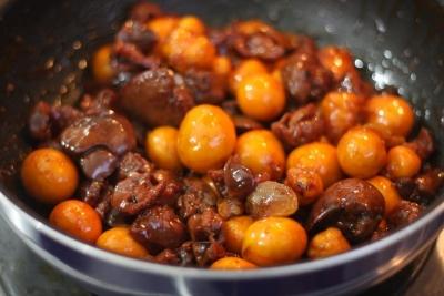黒酢しょうが de たっぷりきんかんのオリジナル鳥もつ煮6