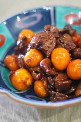 黒酢しょうが de たっぷりきんかんのオリジナル鳥もつ煮1