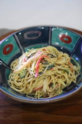 塩昆布で和風スパゲティサラダ2