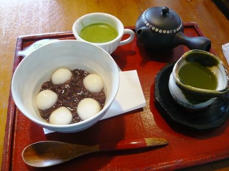 茶楽:抹茶のおしることセット1