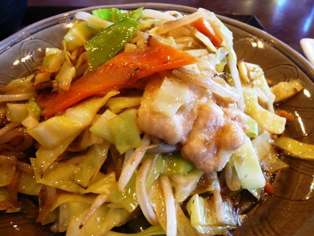 五味八珍:週替わりランチ;野菜炒め