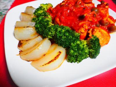 トマト煮込みチキンの