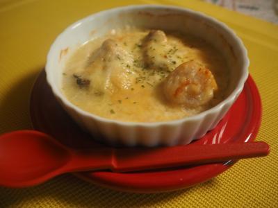 牡蠣とホタテのチーズ焼き