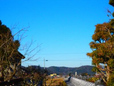 大寒波の青空