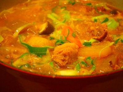 牛筋と大根の味噌煮