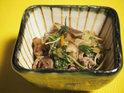 タイタン水菜と牛肉の