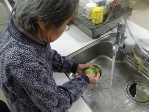 洗い物入居者