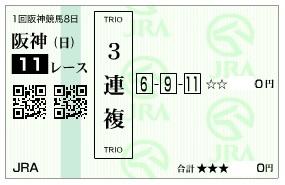 【馬券】280320阪神大賞典_3(競馬 60倍 的中)