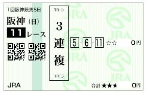 【馬券】280320阪神大賞典_2(競馬 60倍 的中)