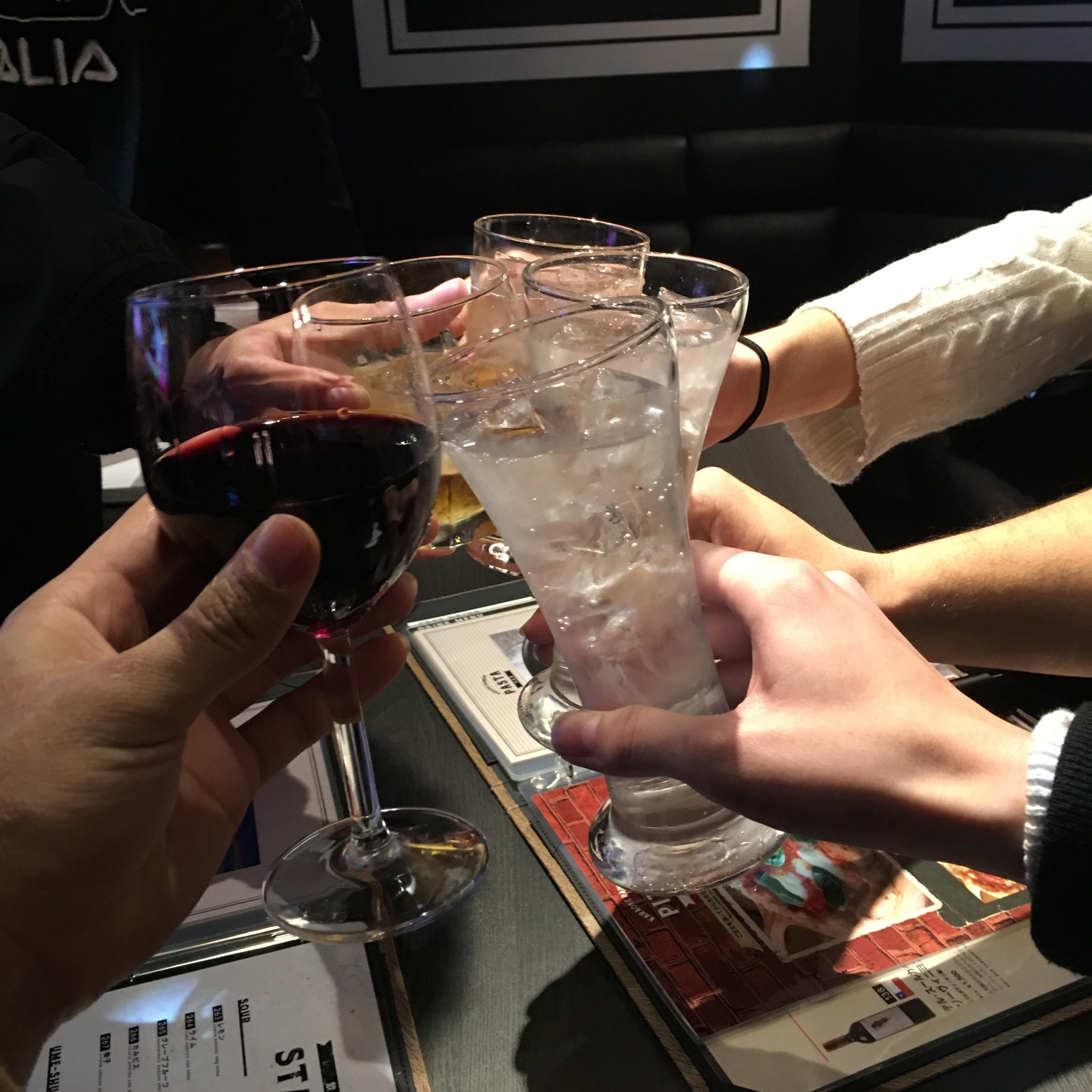 渋谷カウントダウンで乾杯