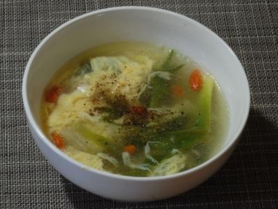 ヤブカンゾウの中華スープ