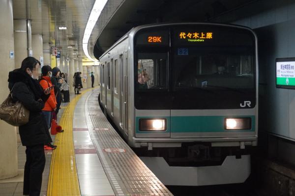 2016-02-26 常磐線209系マト82編成 代々木上原行き