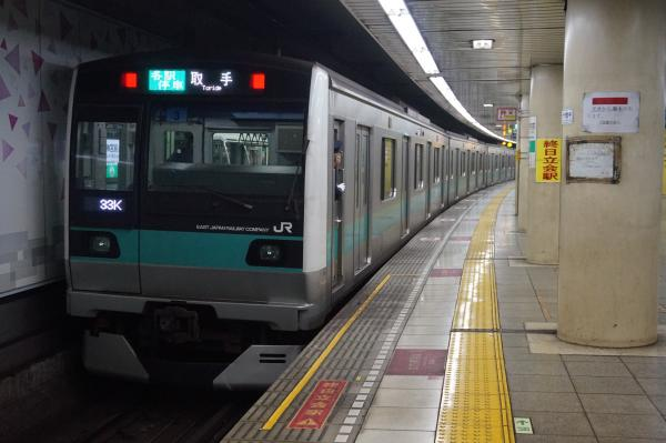 2016-02-26 常磐線E233系マト3編成 各駅停車取手行き