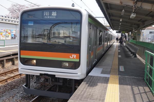 2016-03-31 八高線209系ハエ62編成 川越行き2