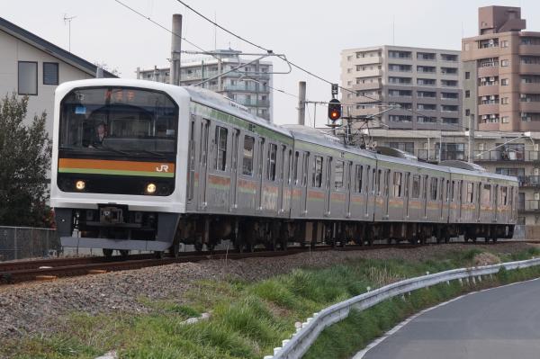 2016-03-31 八高線209系ハエ71編成 八王子行き3