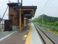 仙石線全線復旧5新東名駅ホーム