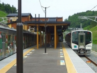 仙石線全線復旧9新野蒜駅ホーム