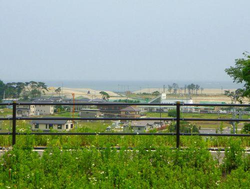 仙石線全線復旧10新野蒜駅より野蒜海岸を眺望