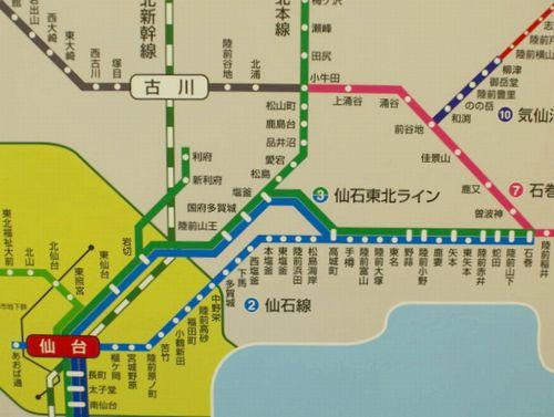 仙石東北ライン2路線図