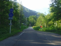 水引集落15県道350号線道幅減少