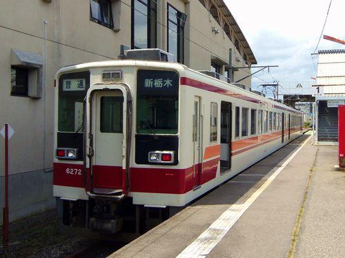 会津田島駅5ホーム東武6050系