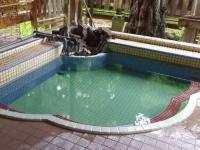 湯野上温泉清水屋旅館13露天風呂松の湯