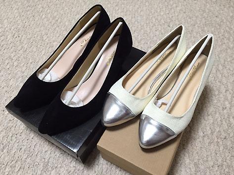 「アミアミ」で購入した春靴~!