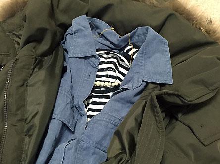 ダウンコートの中はシャツでも大丈夫