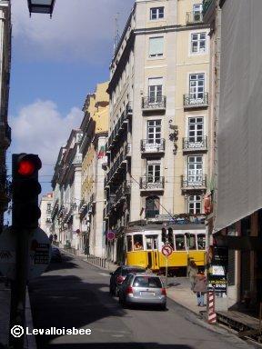 Lisbon ふいに街角い現れた路面電車downsize
