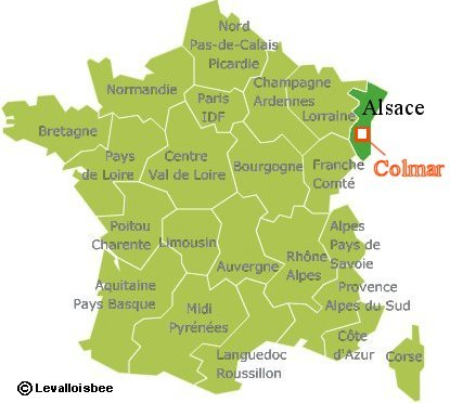 コルマーはフランス北東部アルザス地方にあります