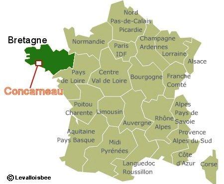 コンカルノー(Concarneau)は南ブルターニュにあります