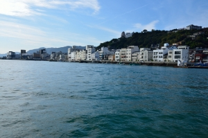船から見た尾道の町