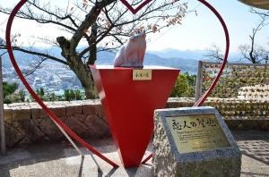 恋人の聖地の像