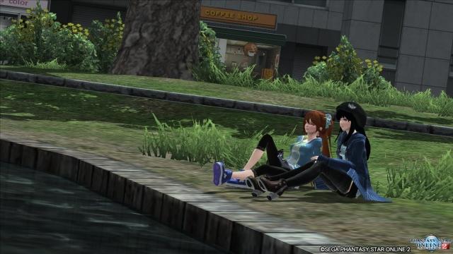 東京の公園にて