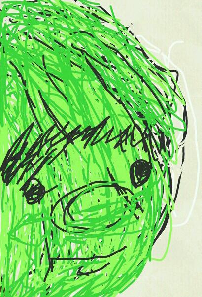 黄緑自画像