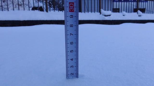 積雪は22センチ