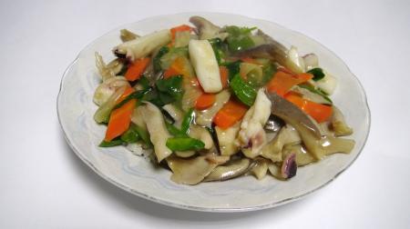 ヒラタケとハリイカの中華丼