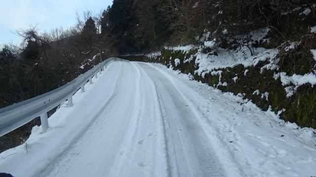 路面が雪に覆われた