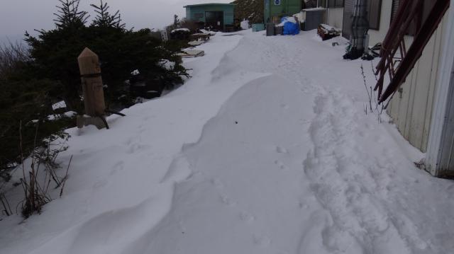 剣山頂上ヒュッテに着いたのは09時28分