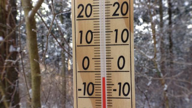 気温は09時ちょうどで-2度
