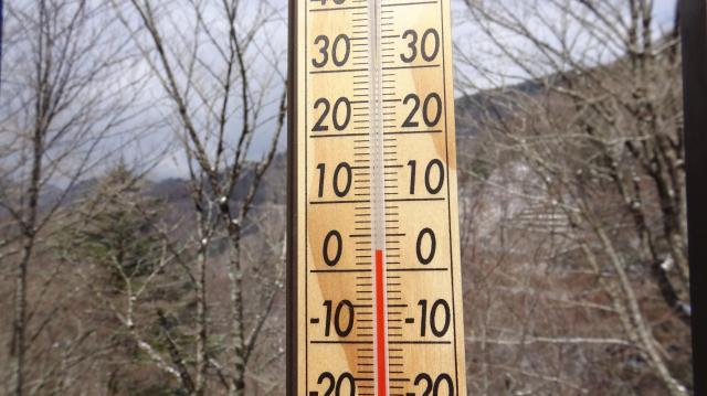 気温は1度でしたが太陽が当って急に上がった